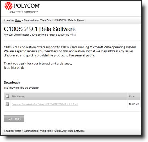 Polycom C100S Beta 2.9.1